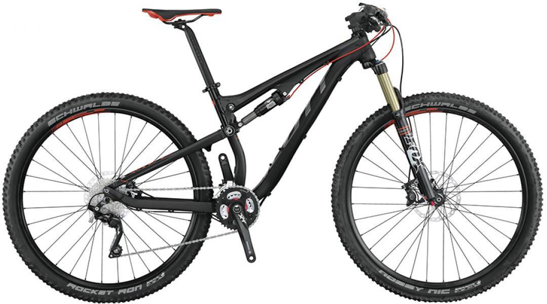 Велосипед горный Scott Genius 930 2015, двухподвесный, цвет: черный, рама 16, колесо 29253419