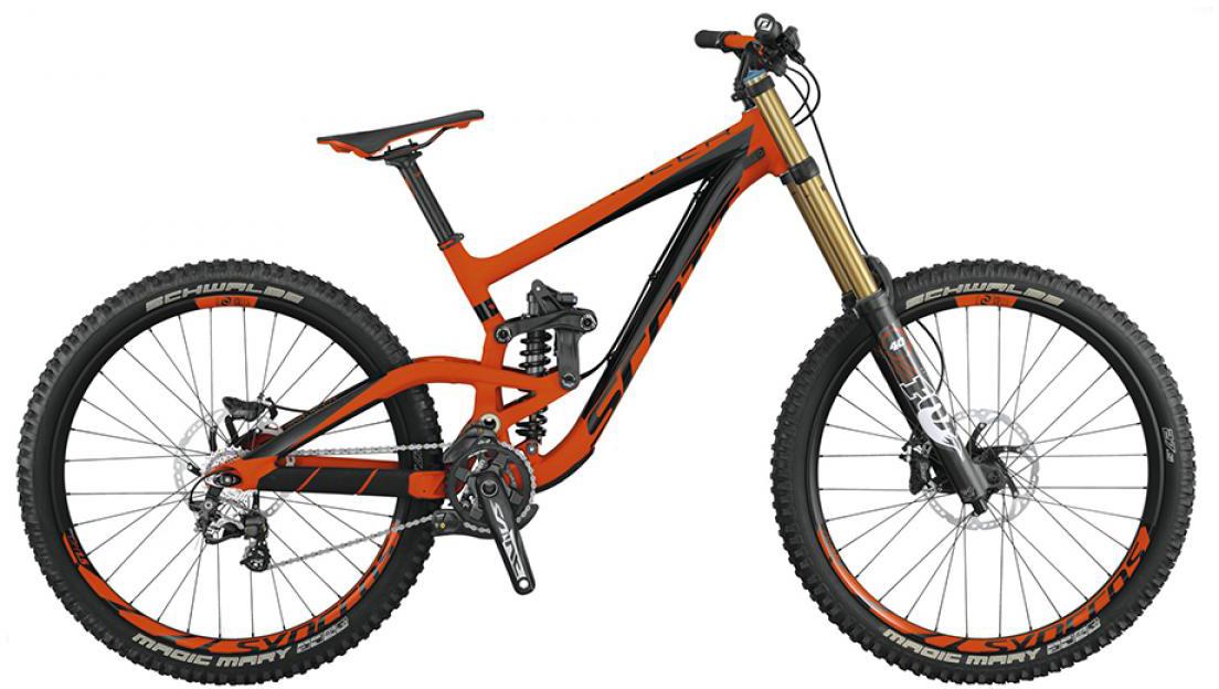 Велосипед горный Scott Gambler 710 2015, двухподвесный, цвет: оранжевый, рама 16, колесо 27,5253436