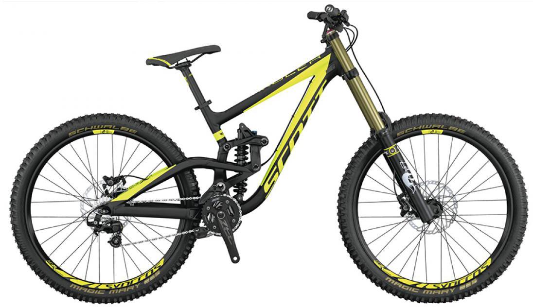 Велосипед горный Scott Gambler 720 2015, двухподвесный, цвет: желтый, рама 16, колесо 27,5253439