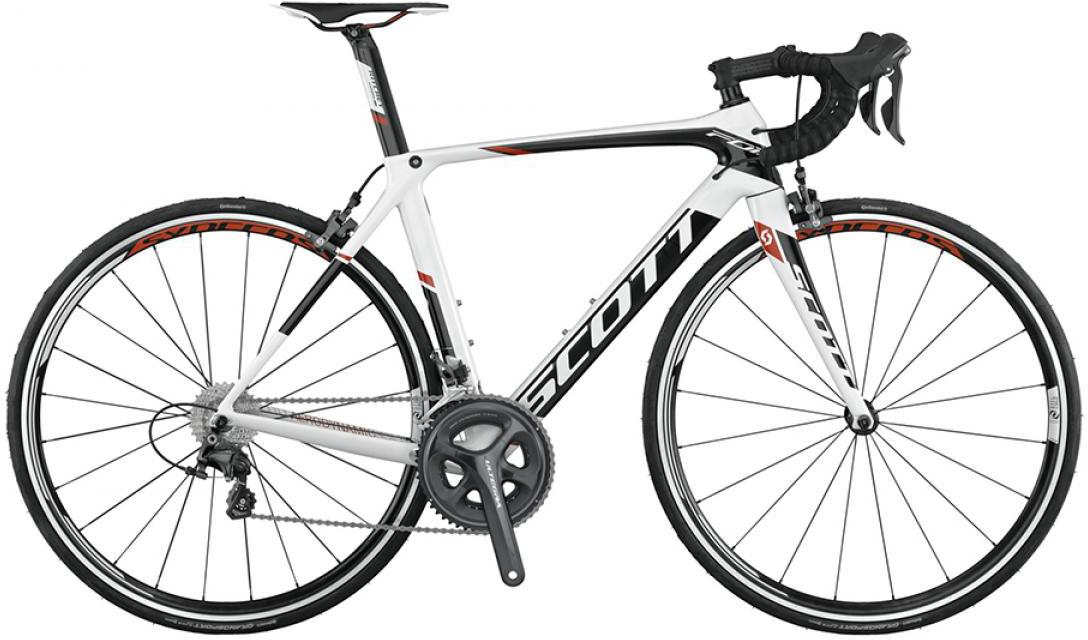Велосипед шоссейный Scott Foil 10 2015, цвет: белый, рама 14,5, колесо 28253573