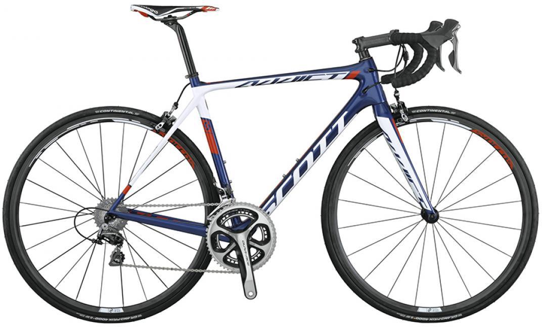Велосипед шоссейный Scott Addict Team Issue 2015, цвет: белый, рама 14,5, колесо 28253594
