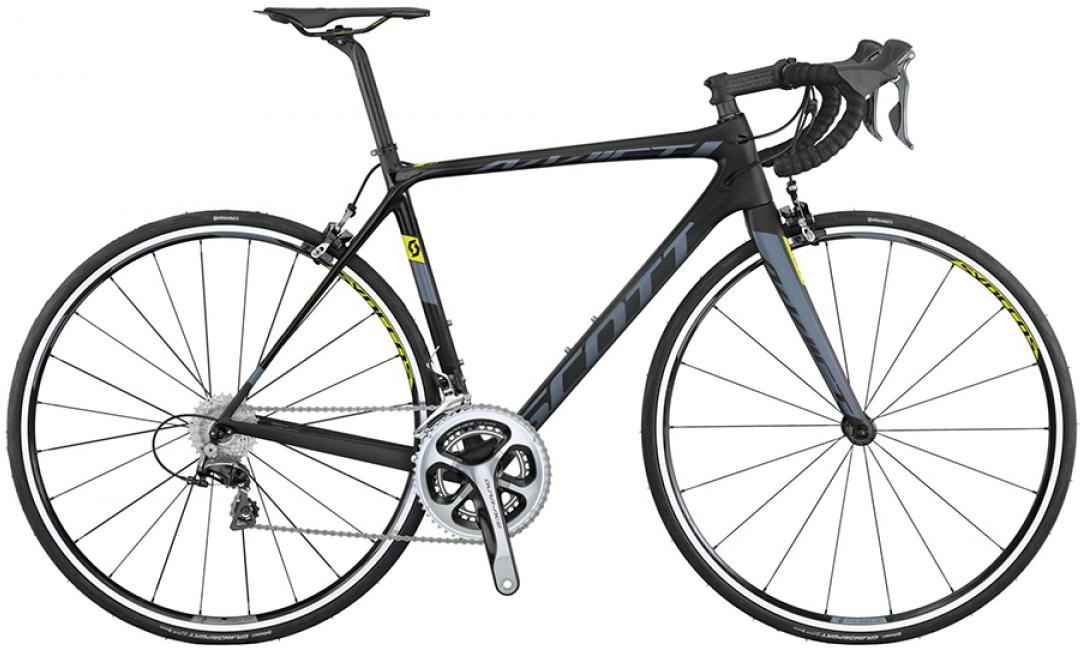 Велосипед шоссейный Scott Addict 10 2015, цвет: черный, рама 24, колесо 28253606