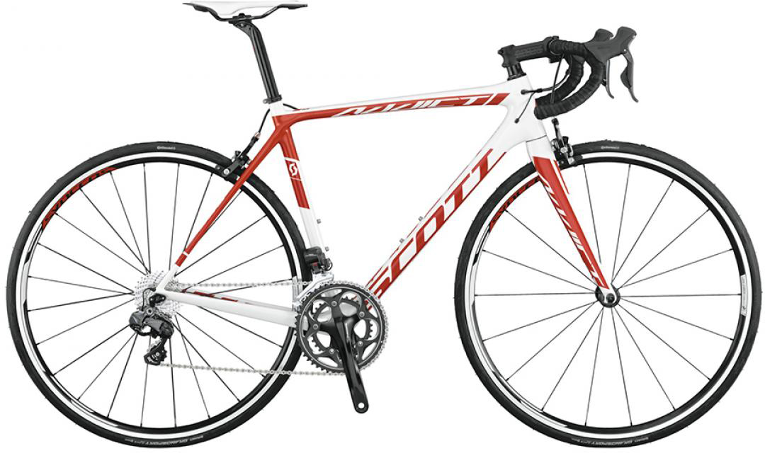 Велосипед шоссейный Scott Addict 15 Di2 2015, цвет: белый, рама 14,5, колесо 28253608