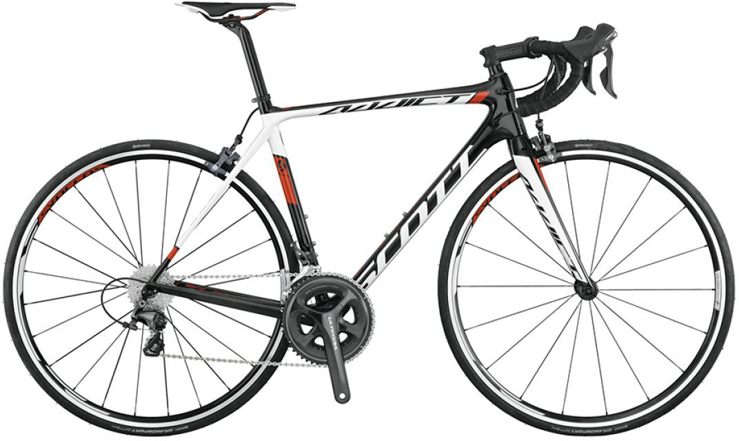 Велосипед шоссейный Scott Addict 20 2015, цвет: черный, рама 14,5, колесо 28253615
