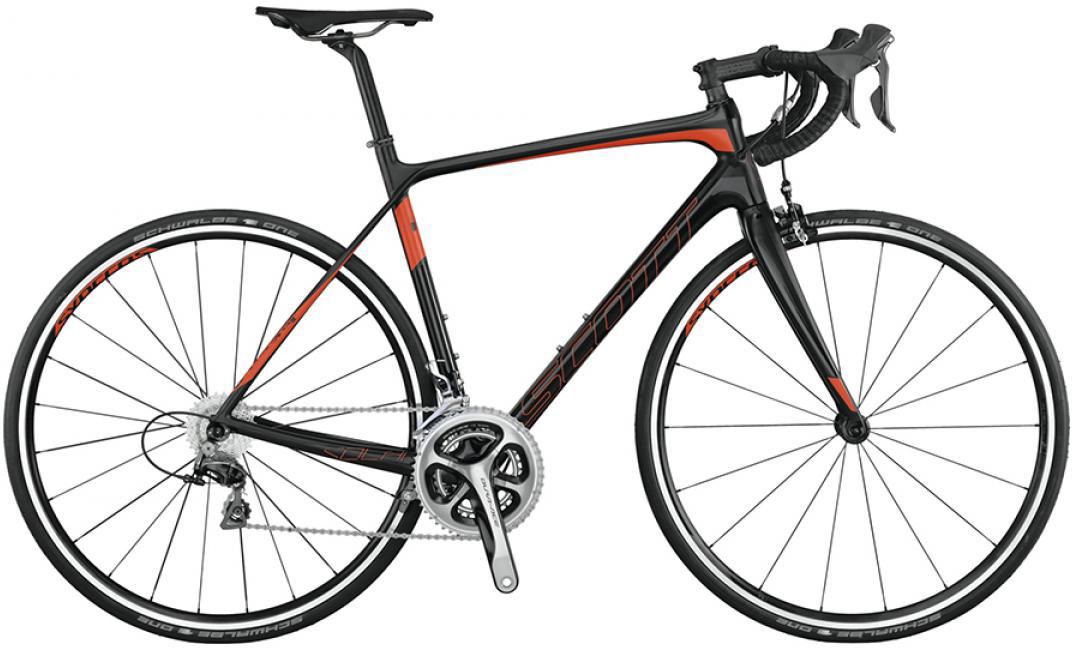 Велосипед шоссейный Scott Solace 10 2015, цвет: черный, рама 16, колесо 28253630