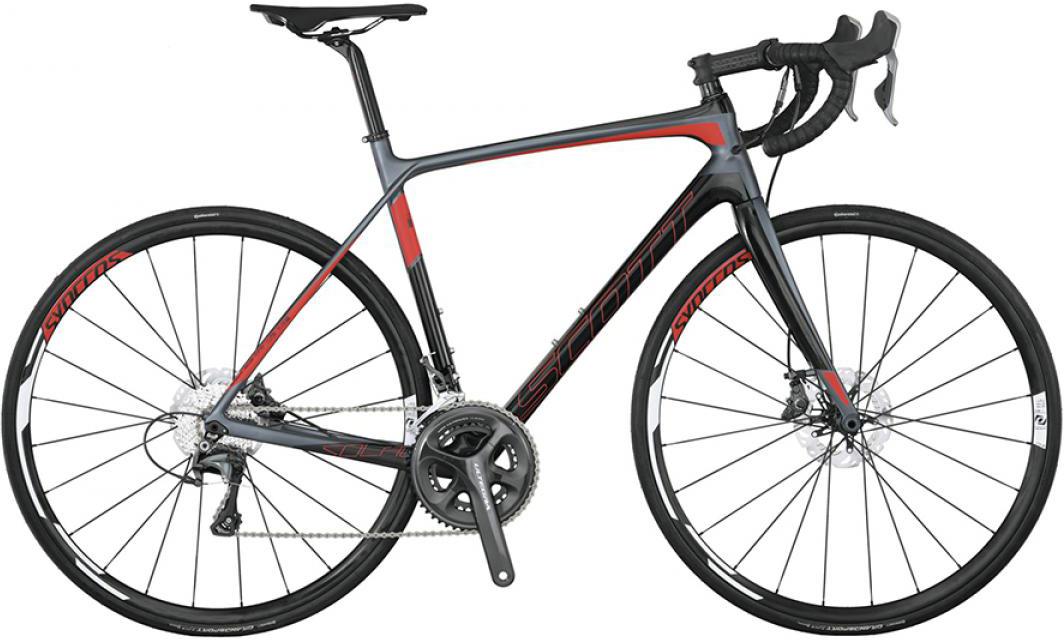 Велосипед шоссейный Scott Solace 15 Disc 2015, цвет: серый, рама 20, колесо 28253653