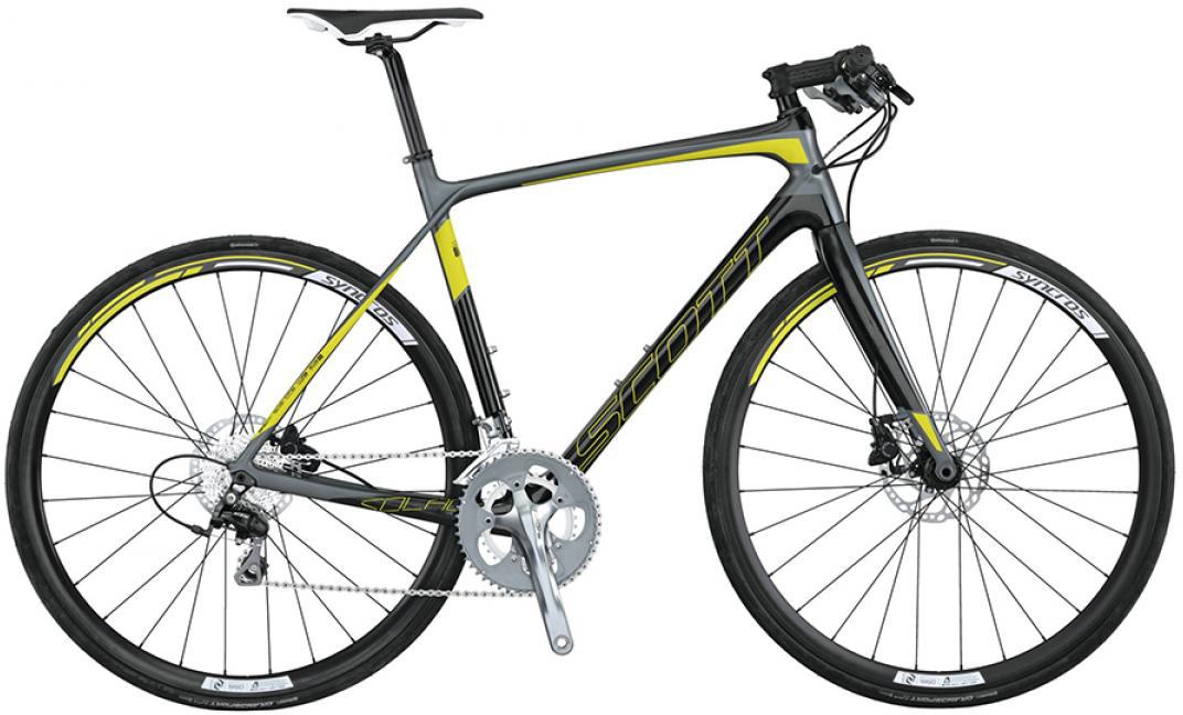 Велосипед шоссейный Scott Solace 40 FB Disc 2015, цвет: серый, рама 20, колесо 28253660