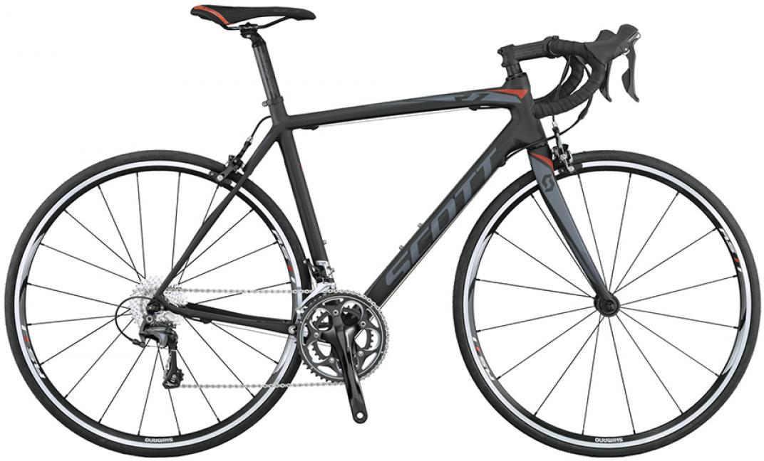 Велосипед шоссейный Scott CR1 10 2015, цвет: черный, рама 24, колесо 28253669