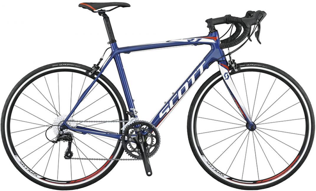 Велосипед шоссейный Scott CR1 30 2015, цвет: синий, рама 14,5, колесо 28253678