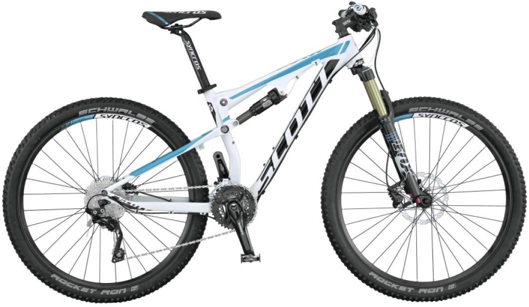 Велосипед женский Scott Contessa Spark 700 2015, двухподвесный, цвет: белый, рама 18, колесо 27,5253738
