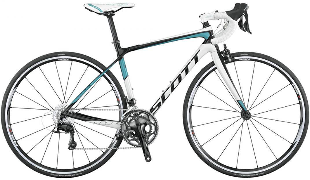 Велосипед шоссейный Scott Contessa Solace 25 2015, цвет: белый, рама 14,5, колесо 28253765