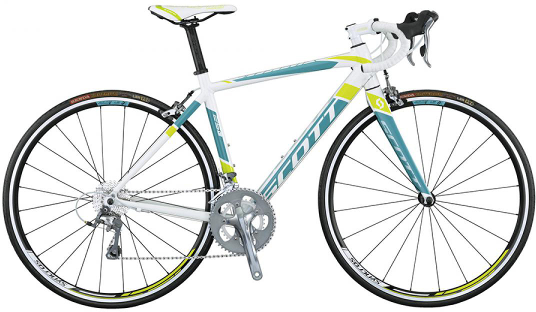 Велосипед шоссейный Scott Contessa Speedster 25 2015, цвет: белый, рама 14,5, колесо 28253780