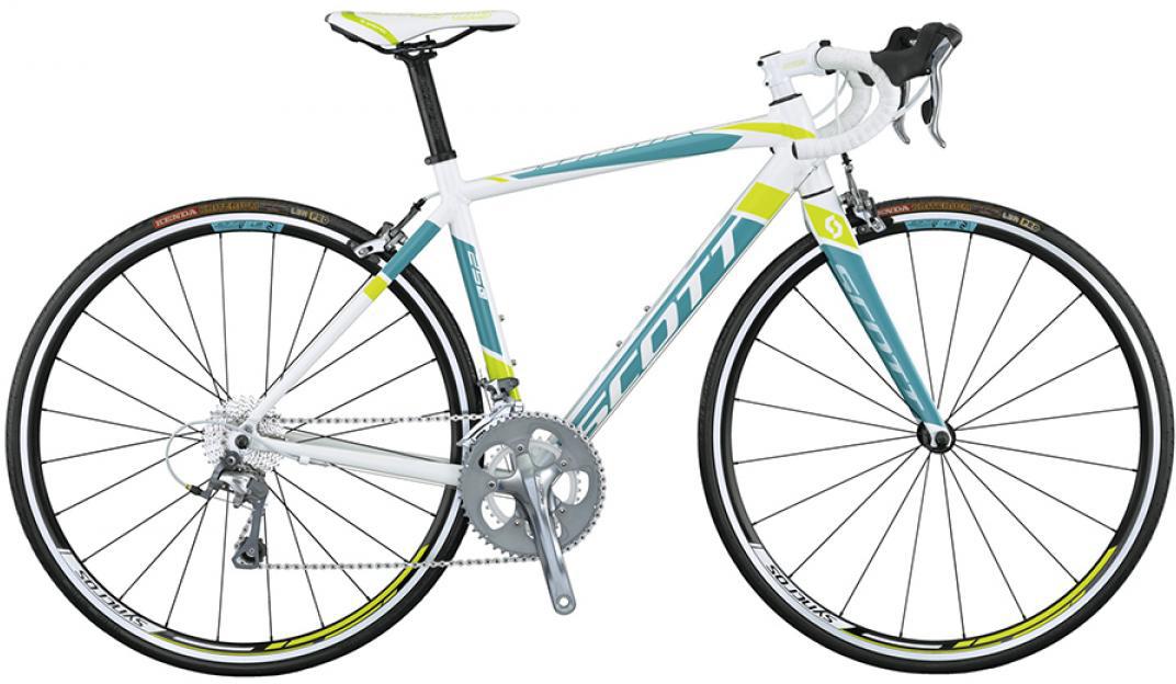 Велосипед шоссейный Scott Contessa Speedster 25 2015, цвет: белый, рама 18, колесо 28253782