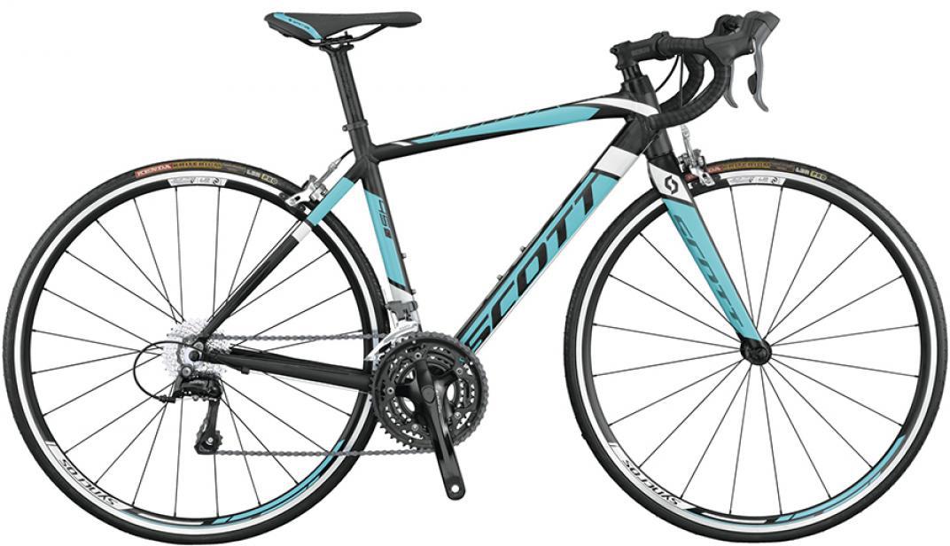 Велосипед шоссейный Scott Contessa Speedster 45 2015, цвет: черный, рама 13, колесо 28253789