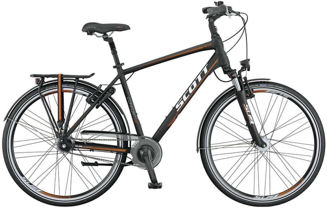 Велосипед городской Scott Sub Comfort 10 Men 2015, цвет: черный, рама 18, колесо 28253846