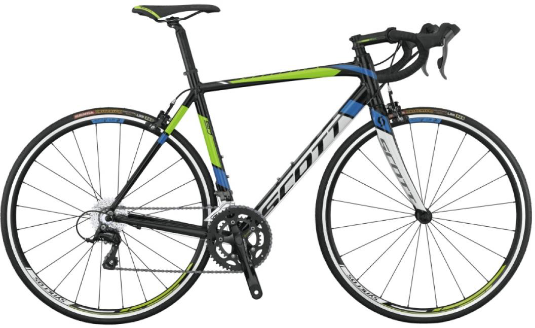 Велосипед шоссейный Scott Speedster 50 2015, цвет: черный, рама 22, колесо 28253861