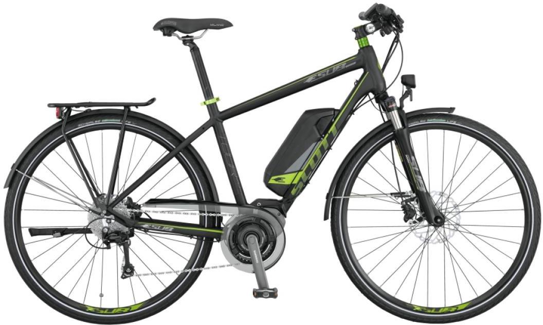 Электровелосипед горный Scott E-Sub Tour 20 Men 2015, цвет: черный, рама 16, колесо 28253875