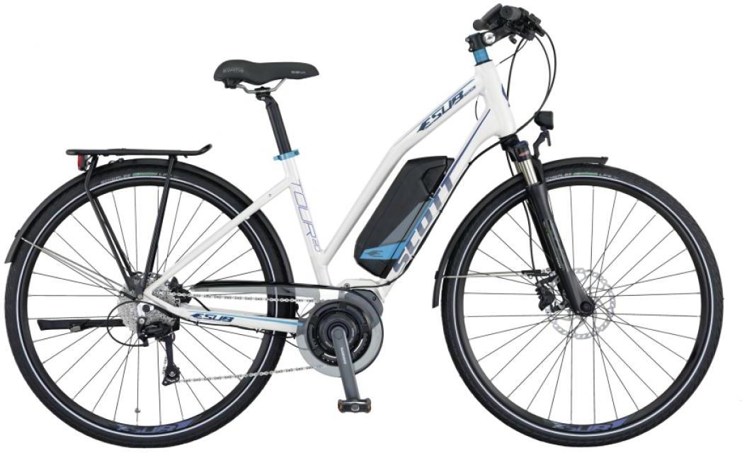 Электровелосипед горный Scott E-Sub Tour 20 Lady 2015, цвет: белый, рама 18, колесо 28253883