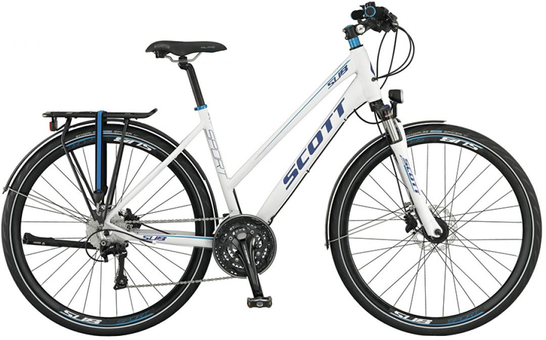 Велосипед городской Scott Sub Sport 10 Lady 2015, цвет: белый, рама 16, колесо 28253887