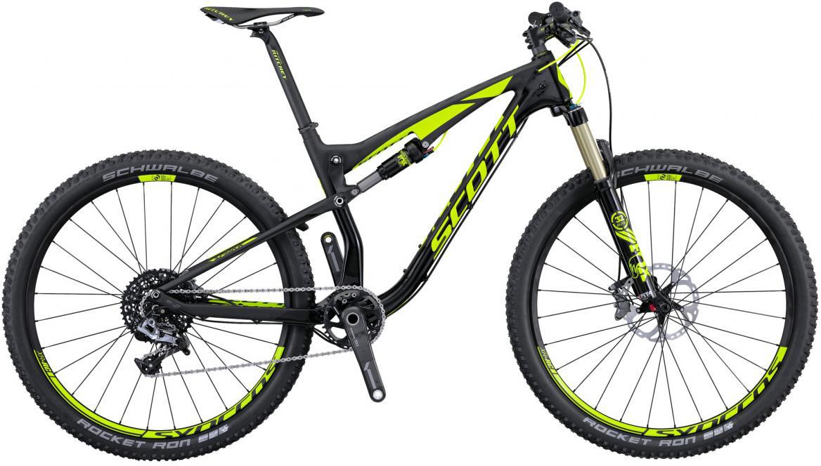 Велосипед горный Scott Spark 700 RC 2016, двухподвесный, цвет: черный, рама 18, колесо 27,5264926
