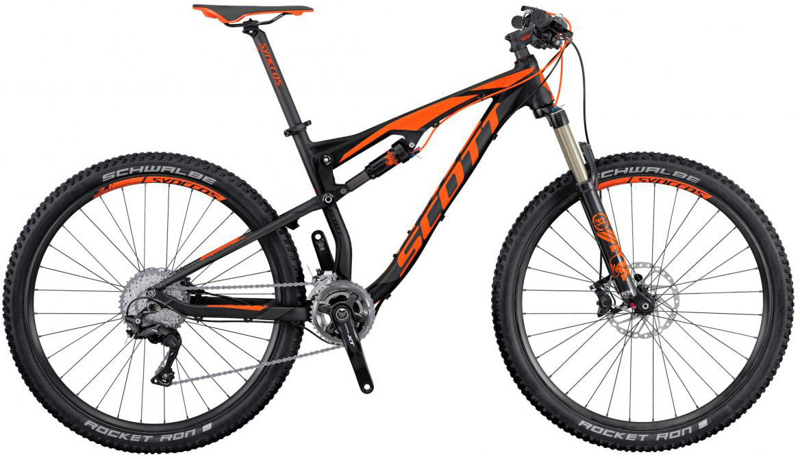 Велосипед горный Scott Spark 740 2016, двухподвесный, цвет: оранжевый, рама 22, колесо 27,5264944