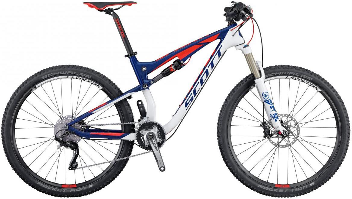 Велосипед горный Scott Spark 930 2016, двухподвесный, цвет: синий, рама 16, колесо 29264949