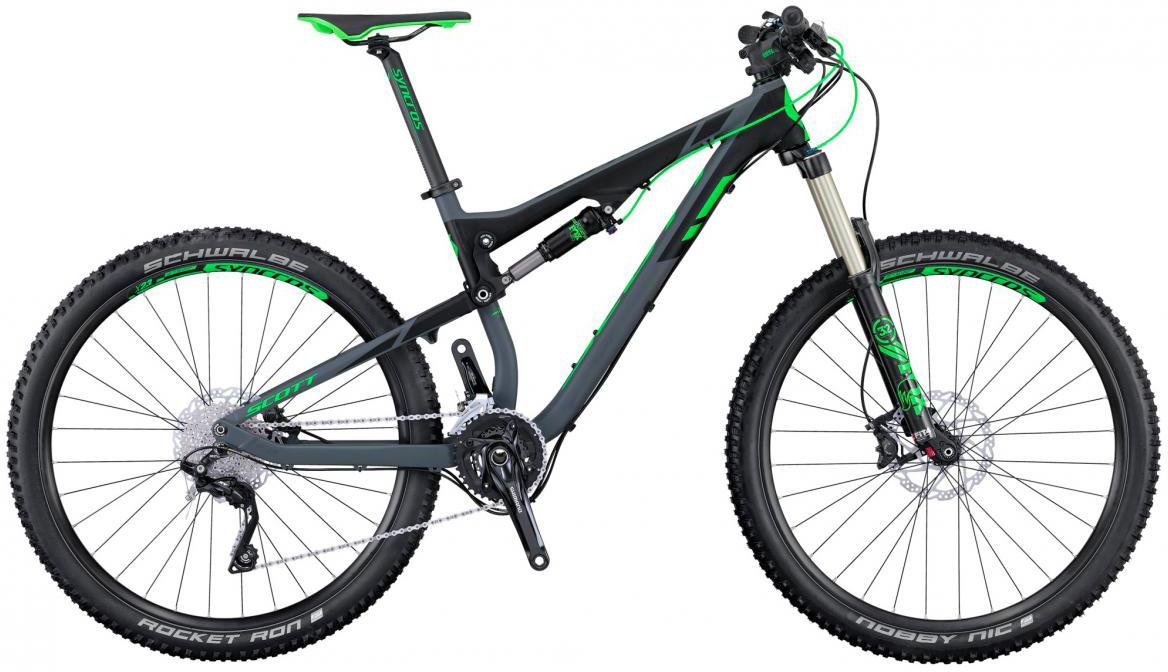 Велосипед горный Scott Genius 740 2016, двухподвесный, цвет: черный, рама 18, колесо 27,5264995