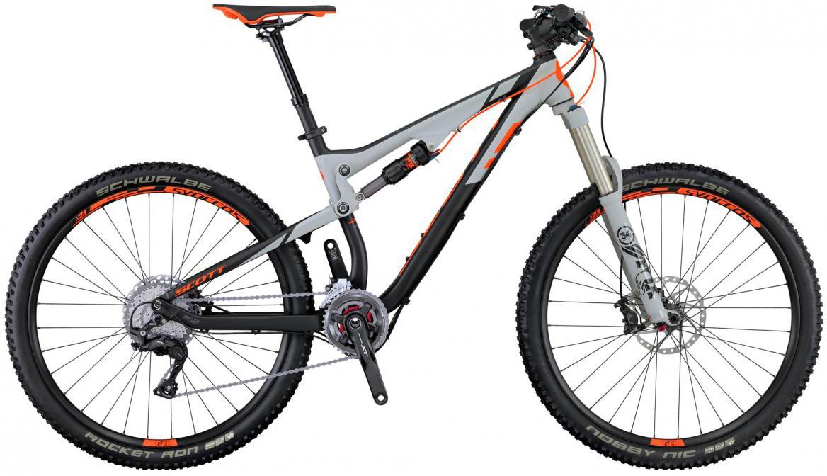 Велосипед горный Scott Genius 730 2016, двухподвесный, цвет: серый, рама 16, колесо 27,5264998