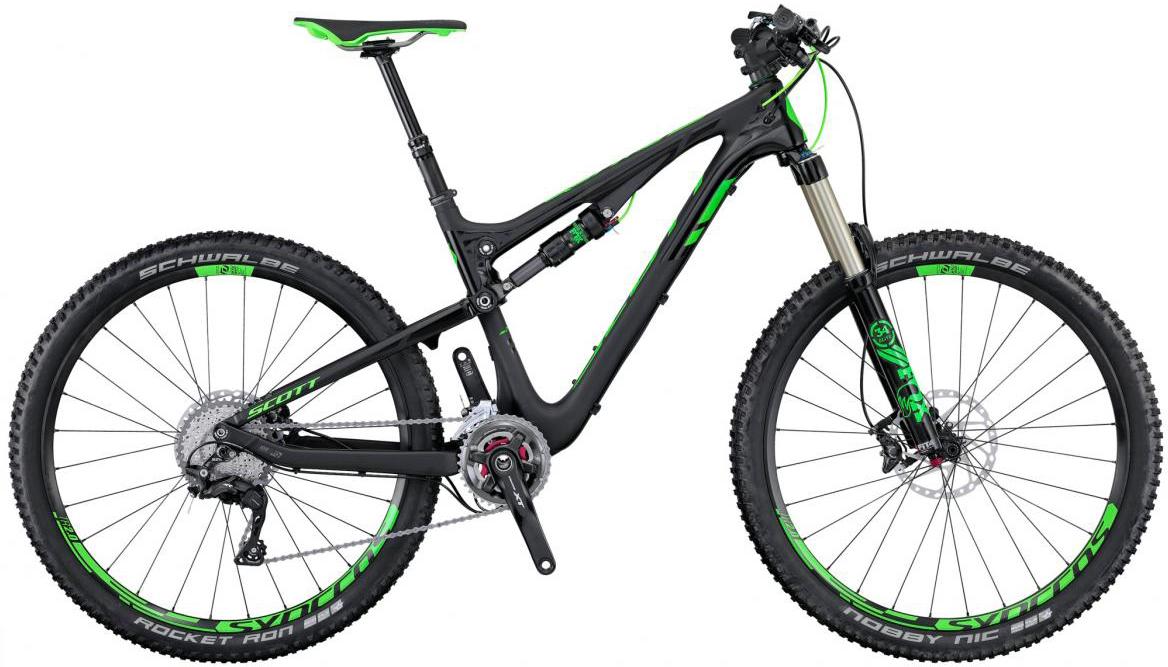 Велосипед горный Scott Genius 710 2016, двухподвесный, цвет: черный, рама 20, колесо 27,5265008