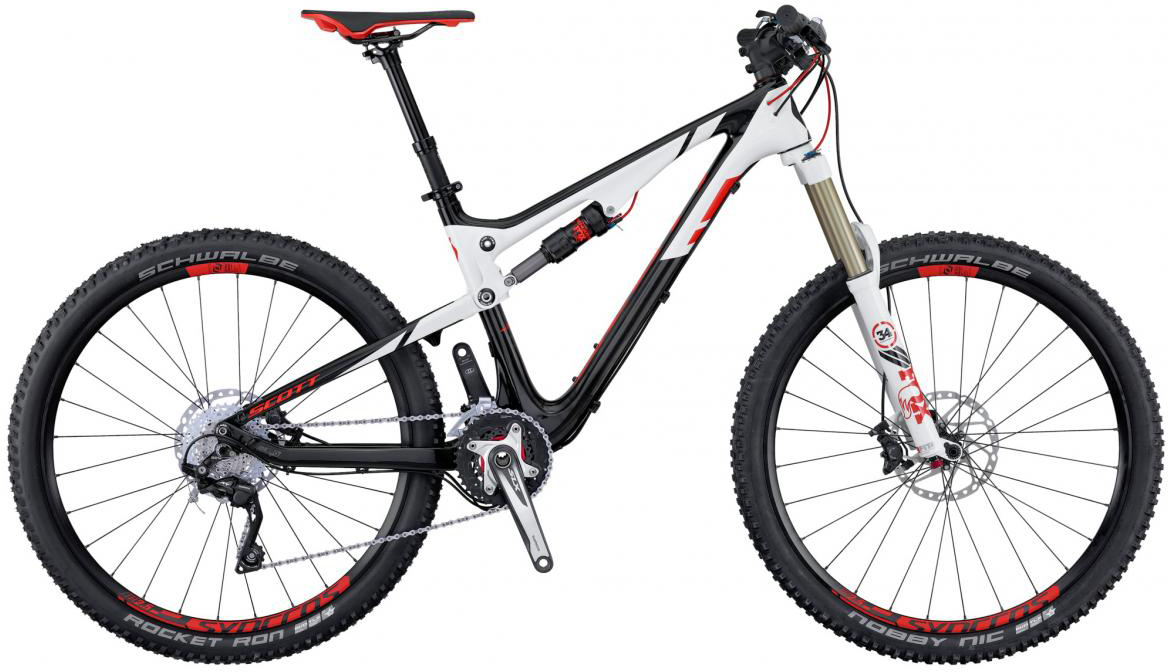 Велосипед горный Scott Genius 920 2016, двухподвесный, цвет: белый, рама 16, колесо 29265022