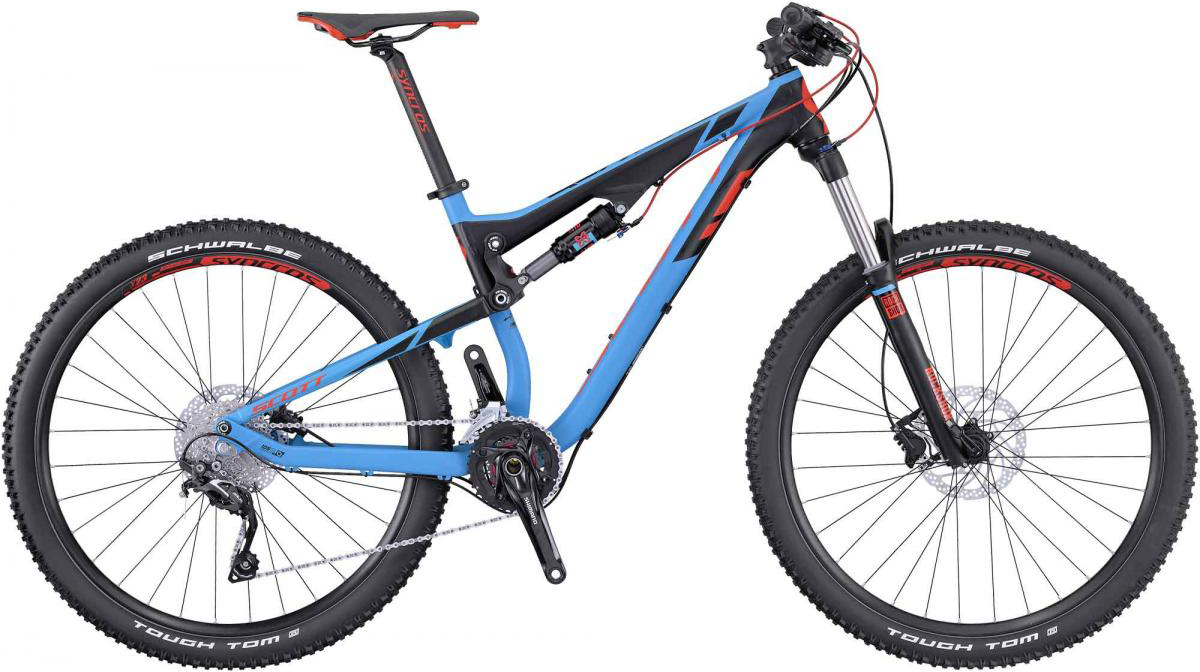 Велосипед горный Scott Genius 950 2016, двухподвесный, цвет: голубой, рама 18, колесо 29265035