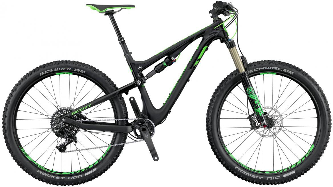 Велосипед горный Scott Genius 710 Plus 2016, двухподвесный, цвет: черный, рама 16, колесо 27,5265042