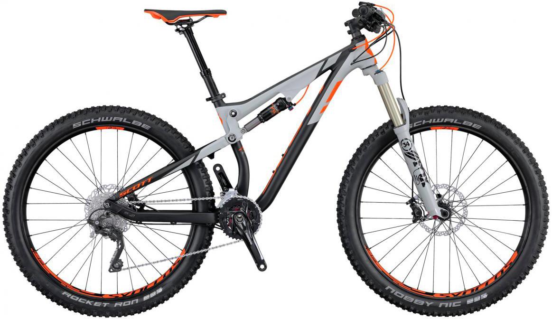 Велосипед горный Scott Genius 720 Plus 2016, двухподвесный, цвет: серый, рама 16, колесо 27,5265046