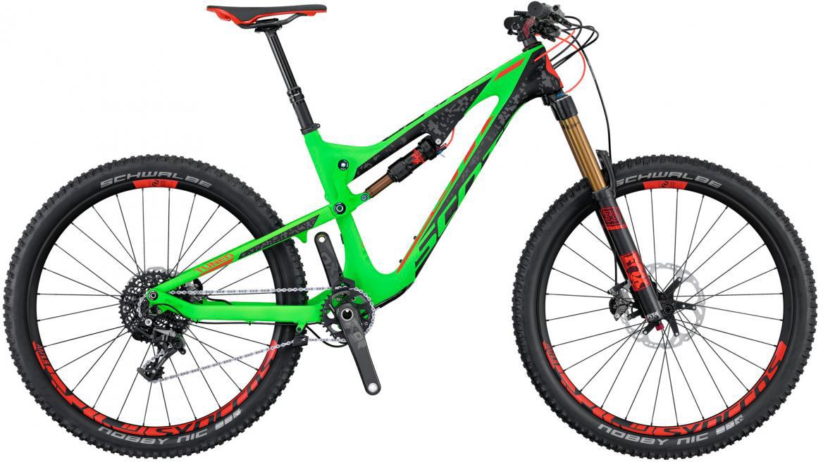 Велосипед горный Scott Genius LT 700 Tuned 2016, двухподвесный, цвет: зеленый, рама 18, колесо 27,5265051