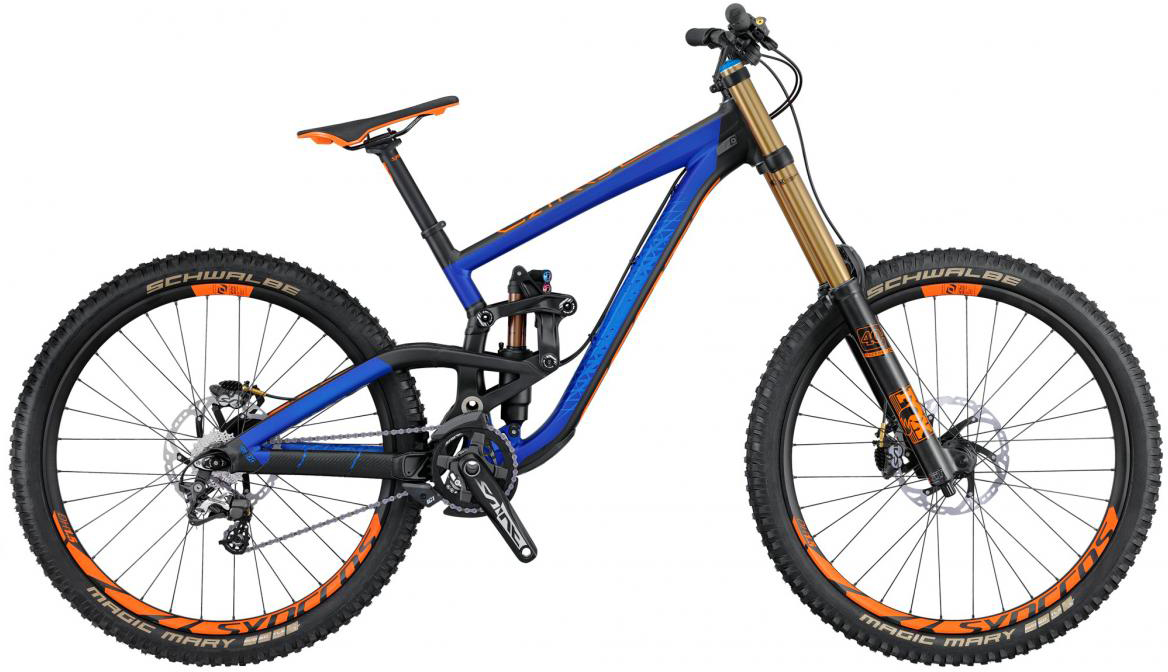 Велосипед горный Scott Gambler 710 2016, двухподвесный, цвет: синий, рама 18, колесо 27,5265075