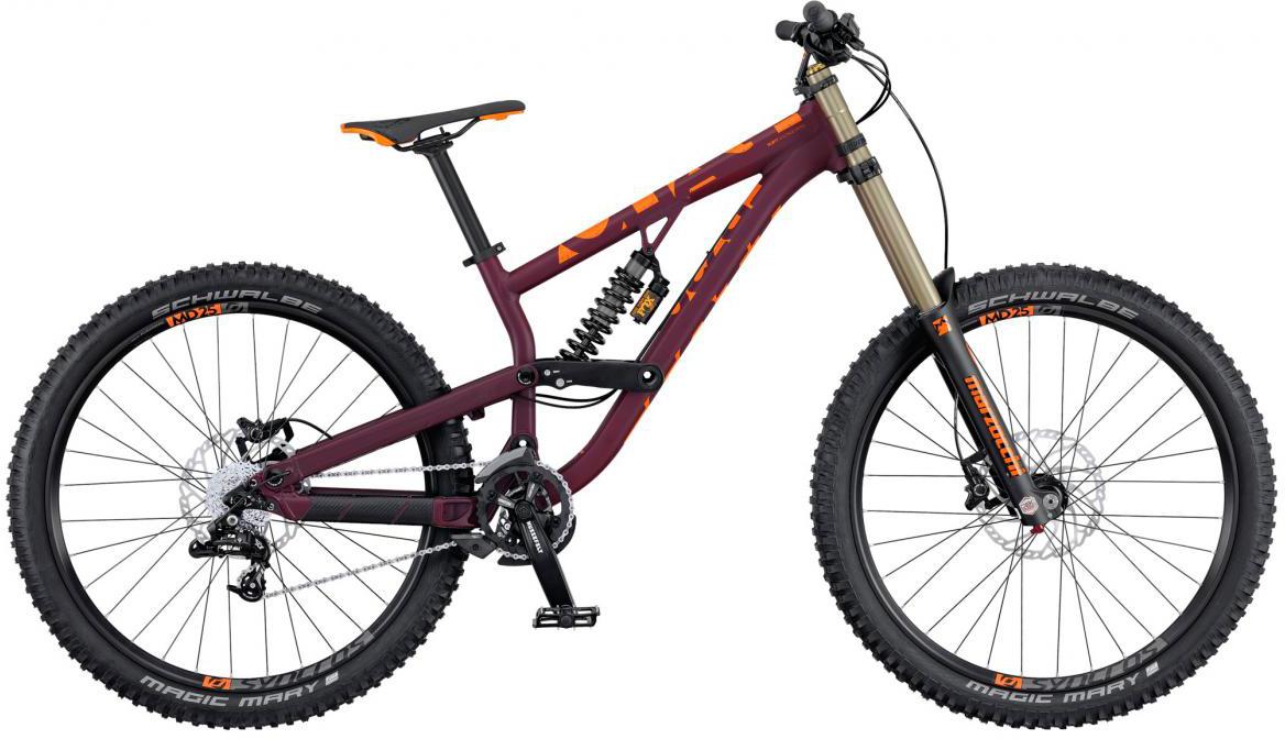 Велосипед горный Scott Voltage FR 720 2016, двухподвесный, цвет: фиолетовый, рама 18, колесо 27,5265087