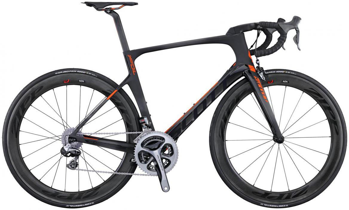 Велосипед шоссейный Scott Foil Premium 2016, цвет: черный, рама 20,5, колесо 28265277