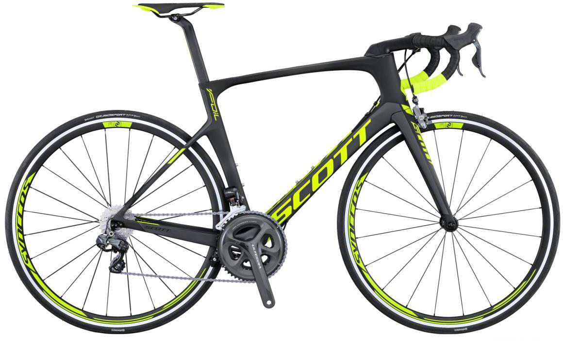 Велосипед шоссейный Scott Foil 10 2016, цвет: черный, рама 19,5, колесо 28265290