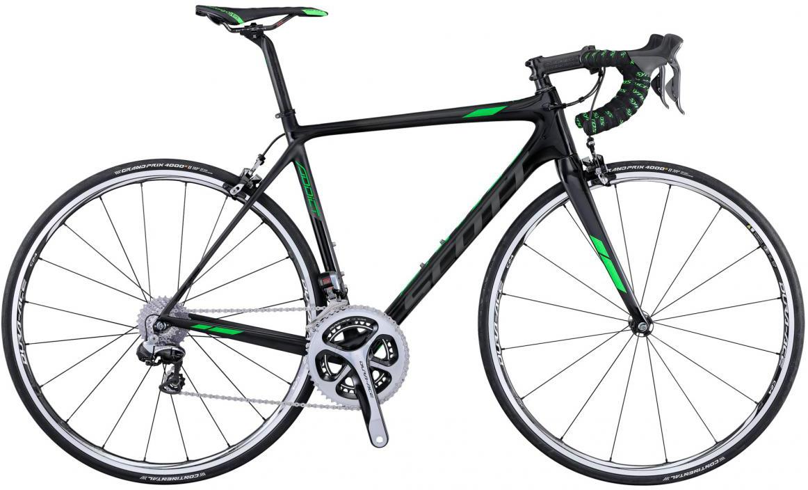 Велосипед шоссейный Scott Addict Team Issue 2016, цвет: черный, рама 23, колесо 28265329