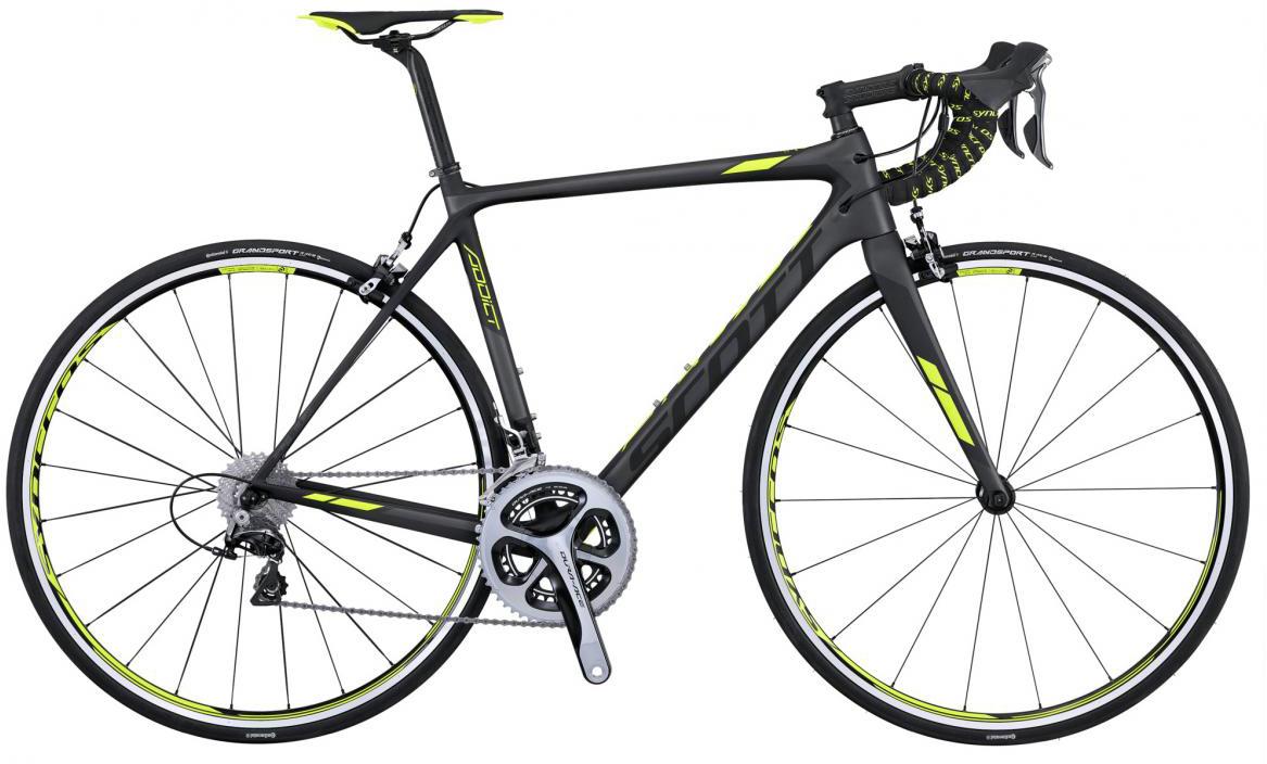 Велосипед шоссейный Scott Addict 10 2016, цвет: черный, рама 23, колесо 28265336