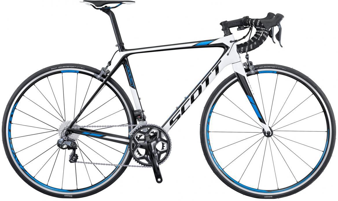 Велосипед шоссейный Scott Addict 15 2016, цвет: белый, рама 18,5, колесо 28265338