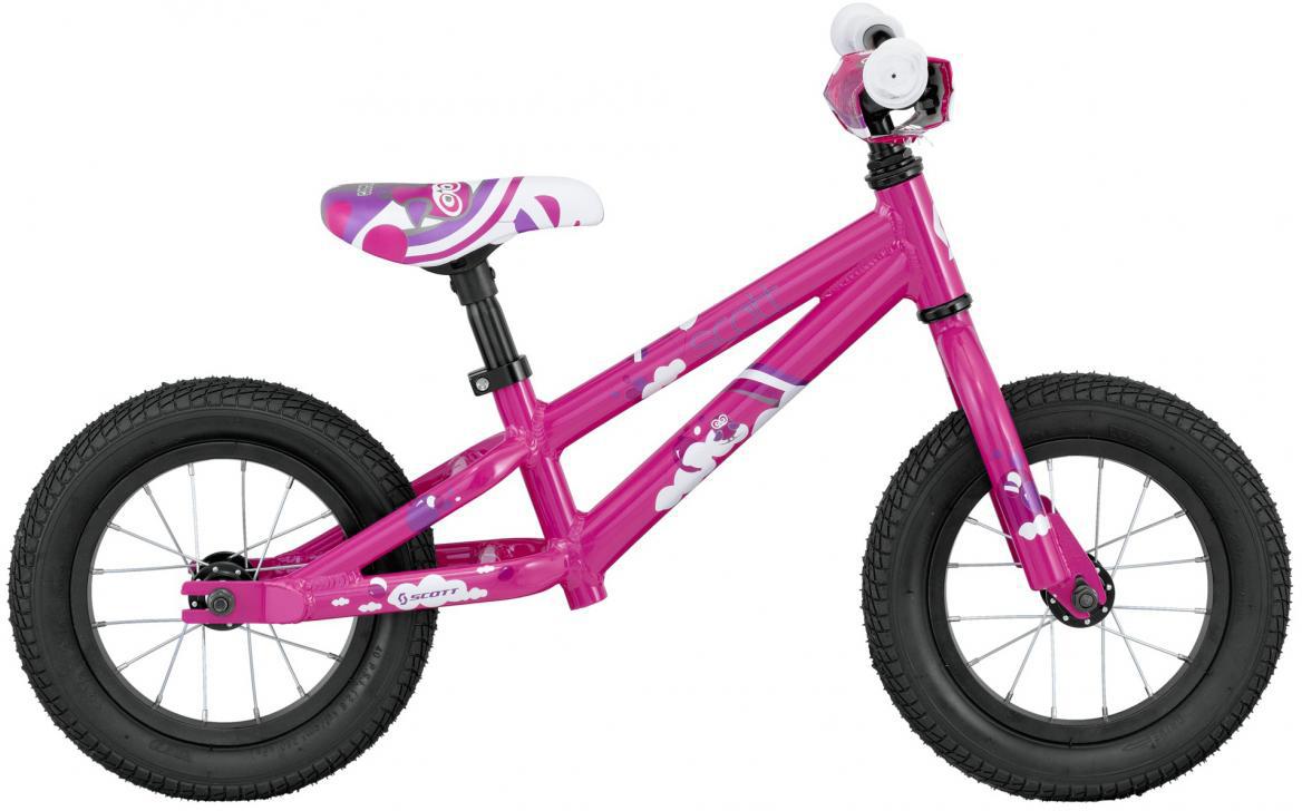 Велосипед детский Scott Contessa Walker 2016, цвет: фиолетовый, рама , колесо 12 walker сумка школьная fun 99