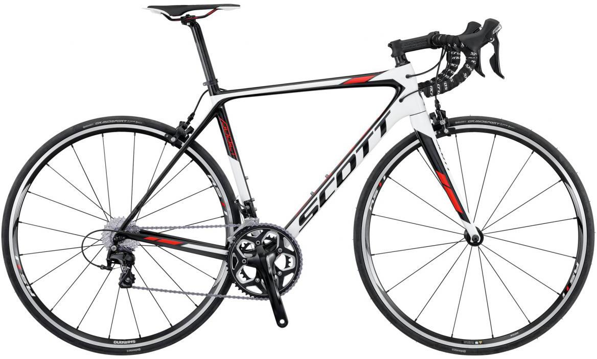 Велосипед шоссейный Scott Addict 30 2016, цвет: белый, рама 22, колесо 28265383