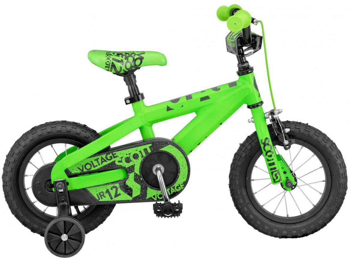 Велосипед детский Scott Voltage JR 2016, цвет: зеленый, рама , колесо 12265386