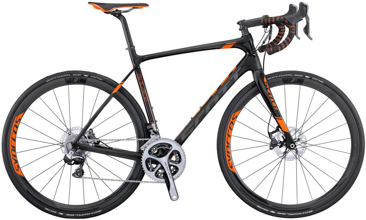 Велосипед шоссейный Scott Solace Premium Disc 2016, цвет: черный, рама 22, колесо 28265392