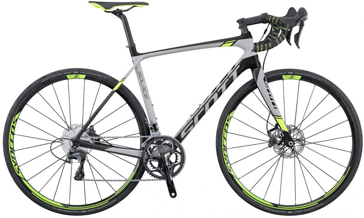 Велосипед шоссейный Scott Solace 10 Disc 2016, цвет: серый, рама 24, колесо 28265401