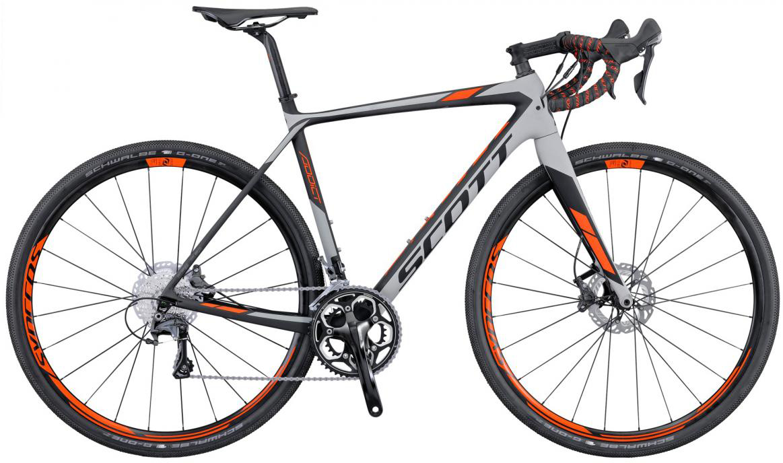 Велосипед шоссейный Scott Addict Gravel Disc 2016, цвет: серый, рама 19,5, колесо 28265403