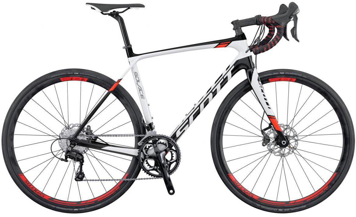 Велосипед шоссейный Scott Solace 20 Disc 2016, цвет: белый, рама 22, колесо 28265418
