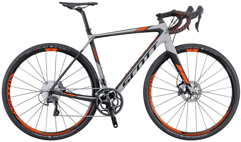Велосипед шоссейный Scott Addict Gravel Disc 2016, цвет: серый, рама 23, колесо 28265429