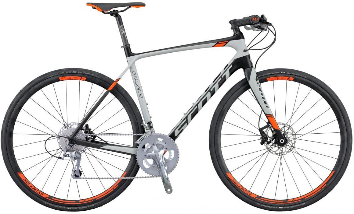 Велосипед шоссейный Scott Solace 30 FB Disc 2016, цвет: серый, рама 20,5, колесо 28265437